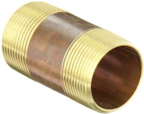 """3/4"""" x 2"""" Brass Nipple (MPT x MPT)"""