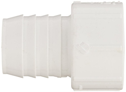 "1/2"" PVC Pipe Insert Adapter (Insert x Socket) (White)"