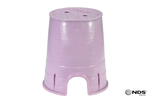 "NDS 6"" Round Valve Box (Purple Box / Purple Cover)"