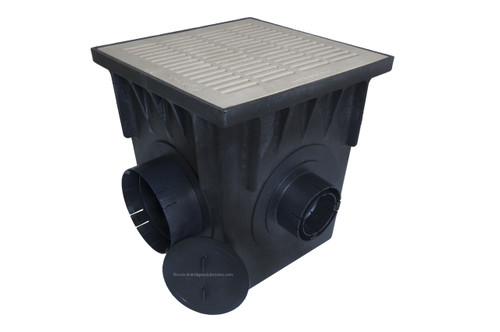 """NDS 18"""" Four Hole Catch Basin Kit w/ Sand Grate"""