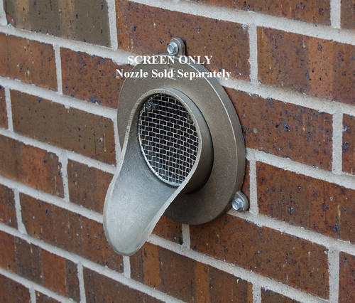 """6"""" Bird Screen for Nickel-Bronze Downspout Nozzle"""