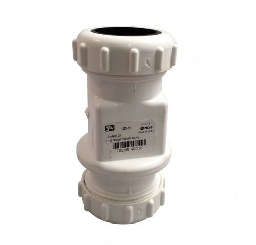 "1 1/4"" x 1 1/2"" PVC Sump Pump Swing Check Valve"