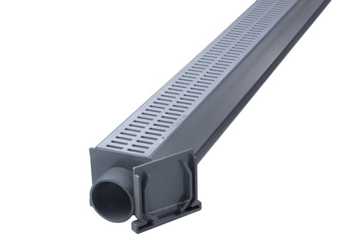 NDS Mini Channel Drain Kit (Gray)