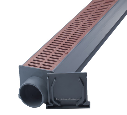 NDS Mini Channel Drain Kit (Brick Red)