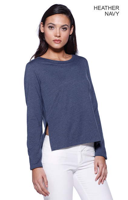 1471 - Women's CVC High Low Long Sleeve Tee