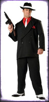 Adult Deluxe Quality Gangster Mafia Zoot Suit Pinstriped Halloween Costume