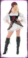 Gothic Sexy Playboy Buccaner Pirate Wench Dress w Accessories Halloween Costume