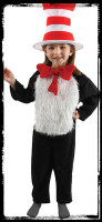 Deluxe Child 4-6 Dr Seuss Cat In The Hat Halloween Complete Costume Suit