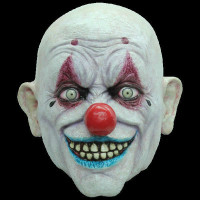 Freaky Circus Crappy the Clown Insane Evil Serial Killer Halloween Costume Mask