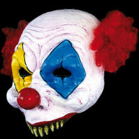 Freaky Circus Open Gus Clown Insane Evil Serial Killer Halloween Costume Mask