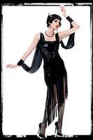 Vintage 1920's Glamor Flapper Dress Halloween Costume