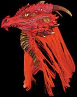 Premiere Red Ancient Dragon Halloween Costume Mask