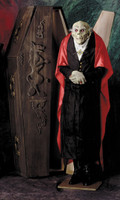 Life Size Count Dracula Vampire Glowing Eyes Halloween Prop Decor