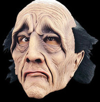 Haunted House Creepy Butler Man Halloween Mask Costume
