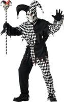 Gothic Evil Joker Jester Dead Skull Halloween Mask & Costume