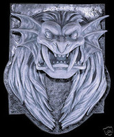 Gothic Lion Head Wall Plaque Halloween Prop Decoration