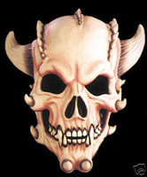 Gothic Demon Skull Creature Halloween Mask Costume Prop