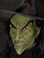 Ultimate Wicked Witch Creepy Old Hag Forest Moving Mouth Halloween Costume Mask