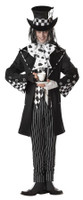 Gothic Dark Mad  Hatter Halloween Mask & Costume