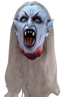 Life Size Gothic Severed Vampire Head Halloween Prop