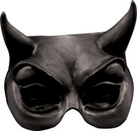 Black Devil BatDemon Face Latex Halloween Costume Half Mask
