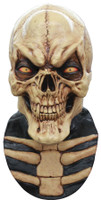 Grinning Skull Skeleton Halloween Costume Mask w/ Chestpiece