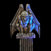 7' Animated tall Life Size Electric Gargoyle Display Halloween Prop