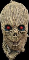 Shrunken Evil Red Eyes Scarecrow Halloween Costume Mask