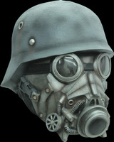 WW2 Nazi Chemical Warefare Gas Hazmat Hazart Chemical Halloween Costume Mask