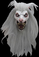 Realistic White Moon Werewolf Wolfman Halloween Costume Mask