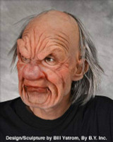Grumpy Old Geezer Man Attitude Supersoft Moving Mouth Halloween Costume Mask