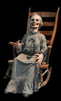 Life Size Animated Mother Granny Corpse Zombie Ghost Rocking Halloween Prop Decor