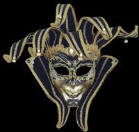 Elaborate Jester Venetian Masquerade Halloween Costume Face Mask
