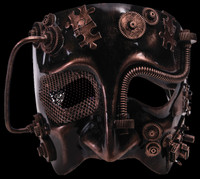 Steampunk Male Bronze Halloween Costume Half Mask
