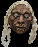 Realistic Shrunken VooDoo Head A2 Real Hair Latex Halloween Prop