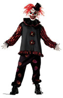 Adult Carver the Killer Clown Evil Circus Insane Halloween Costume & Mask