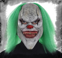 Distorted Evil Grin Grinning Circus Killer Clown Halloween Costume Mask
