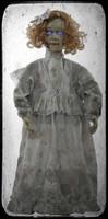 "32"" tall Haunted Cracked Victorian Doll Speaks Glowing Eyes Halloween Prop"