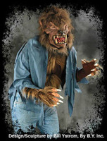 Werewolf Wolfman Hairy Wolf Monster Beast Chest Shirt Halloween Costume Torso