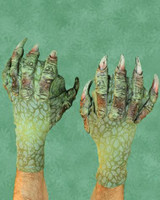 Webbed Sea Creature Swamp Gloves Monster Arms Hands Halloween Costume Accessories