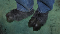 Grey Hooves Goat Monster Feet Shoes Halloween Costume Shoe Covers Accessories