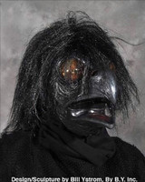 Ravenous Raven Bird Crow Black Bird Realistic Scary Halloween Costume Mask