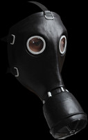 GP-5 Black Smoke Gas Hazmat Hazart Chemical Halloween Costume Mask
