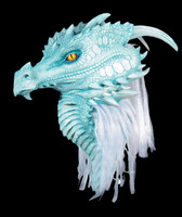 Premiere Ancient Pale Blue Arctic Dragon Halloween Costume Mask