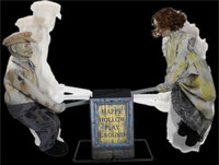 Life Size Animated See Saw Victorian Dolls Haunted Playground Halloween Prop Decor