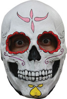 Cartrina Sugar Skull Female Very Detailed Halloween Costume Latex Full Overhead Mask