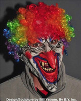 Dastardly Evil Dimented Circus Clown Seial Killer Halloween Costume Mask