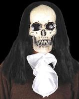 Deluxe Gothic Skull w/ Long Hair Sunglasses Vampire Halloween Costume Mask