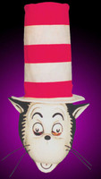 Dr. Seuss Cat In The Hat Cartoon Adult Halloween Costume Mask