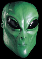 Alien Extraterrestrial Green ET UFO Creature Adult Halloween Costume Mask